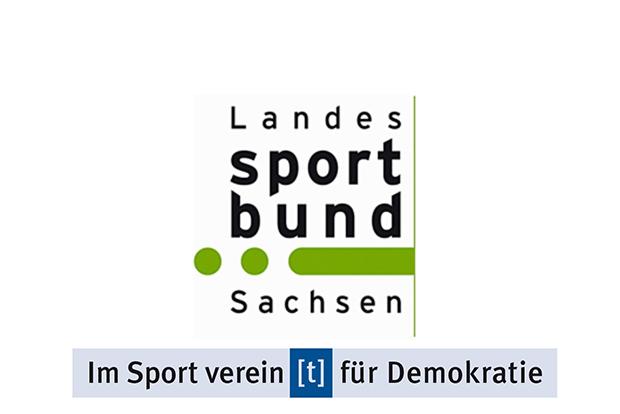 Im Sport vereint für Demokratie; Landessportbund Leipzig; Partner von IVF Leipzig und Strafraum Sachsen 2.0